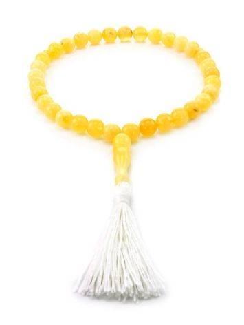 33 Honey Amber Islamic Rosary With Tassel, image