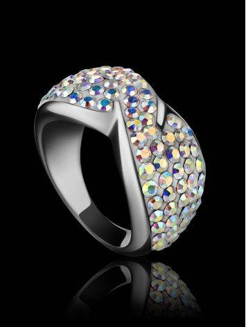 Chameleon Colored Crystal Ring In Sterling Silver The Eclat, Ring Size: 5 / 15.5, image , picture 2