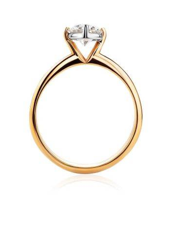 Solitaire Diamond Ring In Gold, Ring Size: 9 / 19, image , picture 3