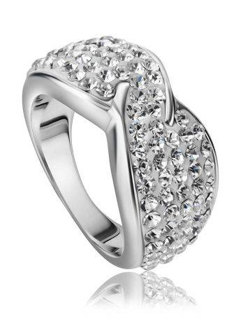 White Crystal Band Ring The Eclat, Ring Size: 5.5 / 16, image