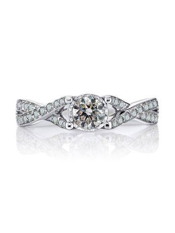 White Gold Ring With Diamond Channel Set, Ring Size: 6.5 / 17, image , picture 3