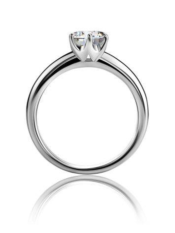 Solitaire Crystal Silver Ring, Ring Size: 6 / 16.5, image , picture 3