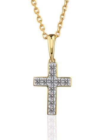 Yellow Gold Cross Pendant With Diamonds, image