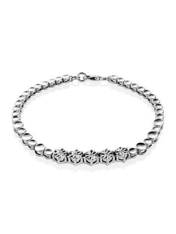 Golden Tennis Bracelet With Diamonds, image