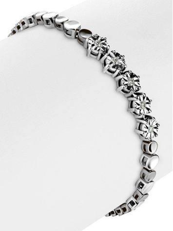 Golden Tennis Bracelet With Diamonds, image , picture 3