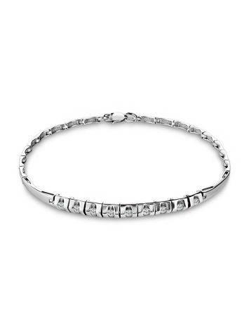 White Gold Bracelet With Diamonds, image