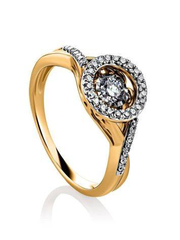 Dancing Diamond Golden Ring, Ring Size: 7 / 17.5, image