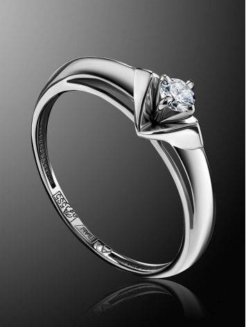 Solitaire Diamond Ring In White Gold, Ring Size: 7 / 17.5, image , picture 2