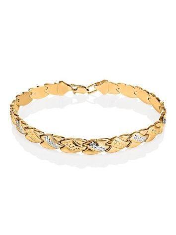 Two Toned Golden Link Bracelet, image