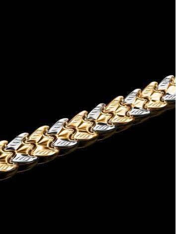Two Toned Golden Link Bracelet, image , picture 2