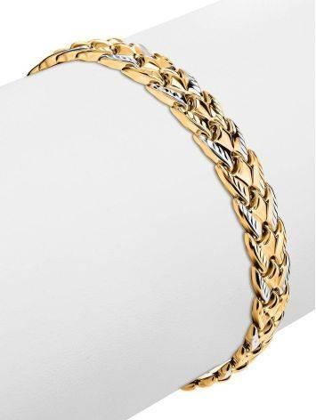 Two Toned Golden Link Bracelet, image , picture 3