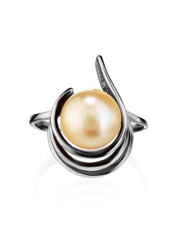 Sterling Silver Ring With Cultured Pearl The Serene, Ring Size: 6 / 16.5, image , picture 3