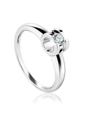 Solitaire Diamond Ring In White Gold, Ring Size: 6 / 16.5, image