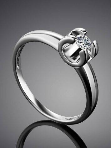 Solitaire Diamond Ring In White Gold, Ring Size: 6 / 16.5, image , picture 2