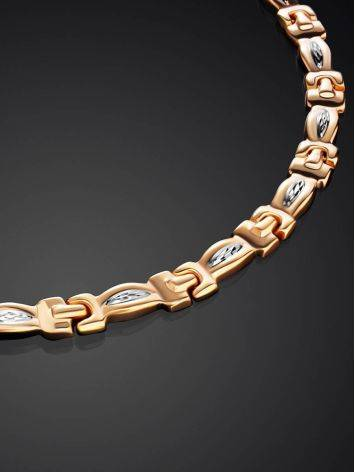Two Toned Golden Necklace, image , picture 2