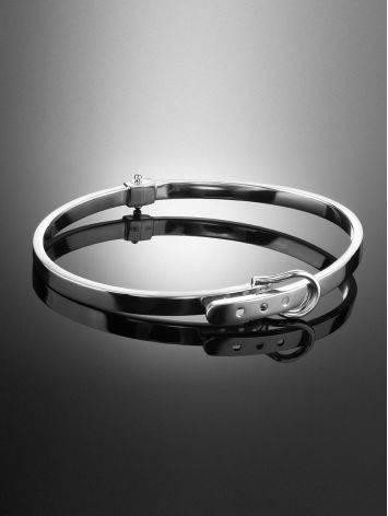 White Gold Bangle Bracelet, image , picture 2
