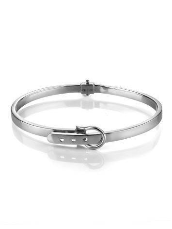 White Gold Bangle Bracelet, image , picture 3