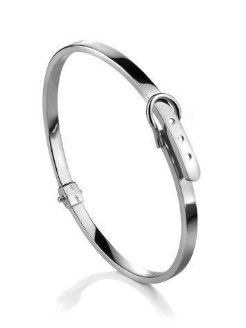 White Gold Bangle Bracelet, image
