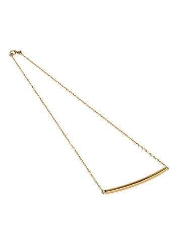 Minimalistic Golden Necklace, image , picture 3