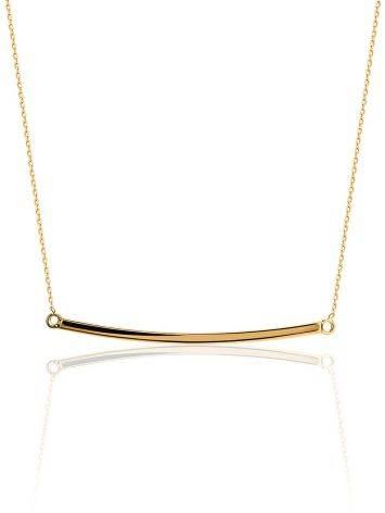 Minimalistic Golden Necklace, image