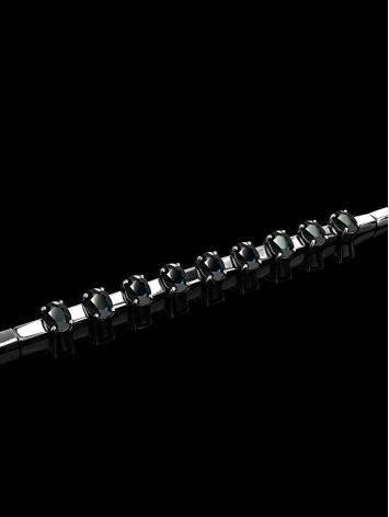 White Gold Sapphire Bracelet, image , picture 2