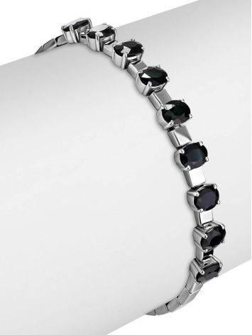 White Gold Sapphire Bracelet, image , picture 3