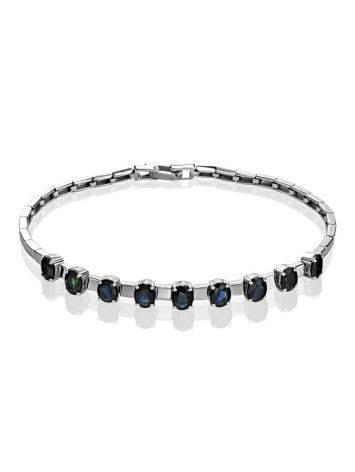 White Gold Sapphire Bracelet, image