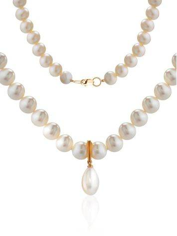 Cultured Pearl Necklace In Gold The Serene, image