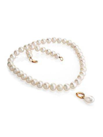 Cultured Pearl Necklace In Gold The Serene, image , picture 2