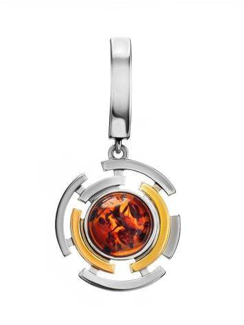 Gold Plated Silver Amber Pendant The Lumiere, image