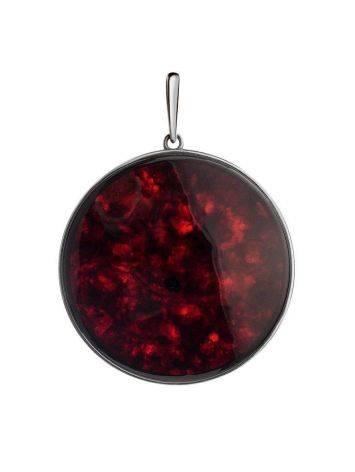Round Cherry Amber Pendant The Monaco, image