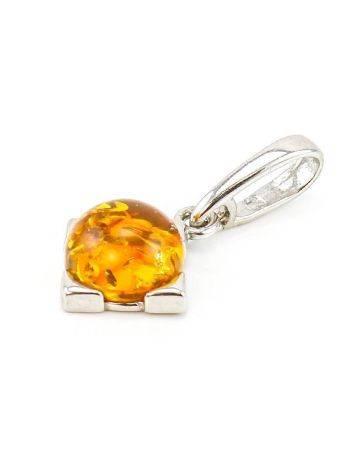 Geometric Amber Silver Pendant The Rondo, image , picture 3