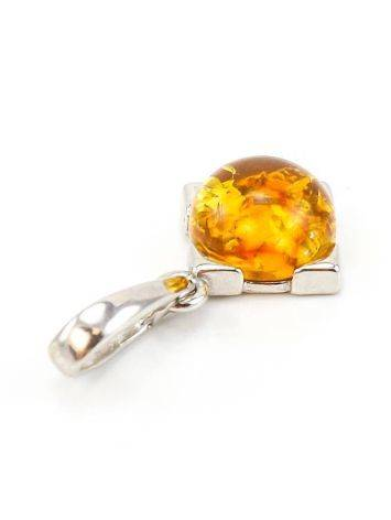 Geometric Amber Silver Pendant The Rondo, image , picture 4