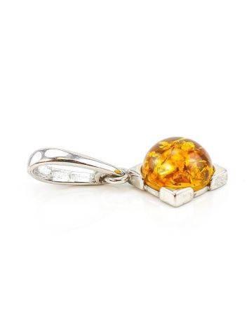 Geometric Amber Silver Pendant The Rondo, image , picture 5