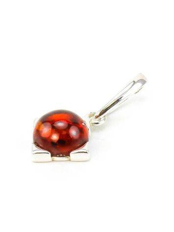 Square Silver Pendant With Cherry Amber The Rondo, image , picture 5