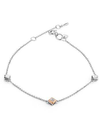 Silver Golden Bracelet With Diamond The Diva, image
