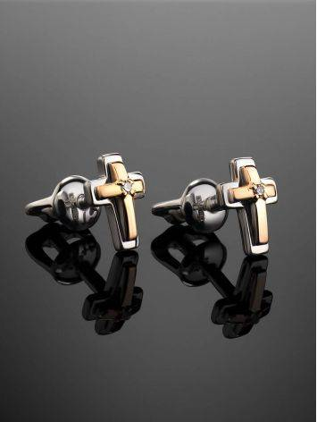 Silver Golden Studs With Diamonds The Diva, image , picture 2