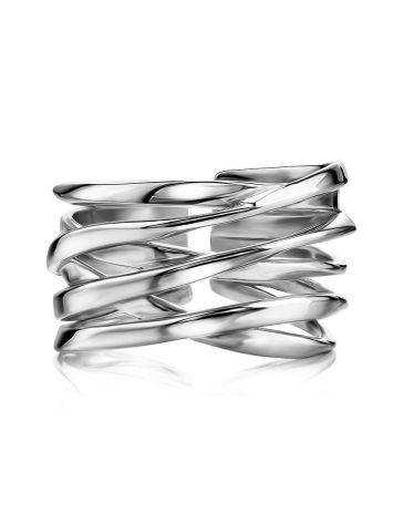 Silver Twisted Statement Ring, image , picture 3
