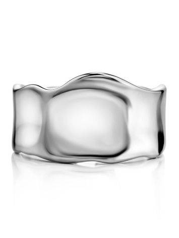 Statement Silver Molten Wave Ring, image , picture 3