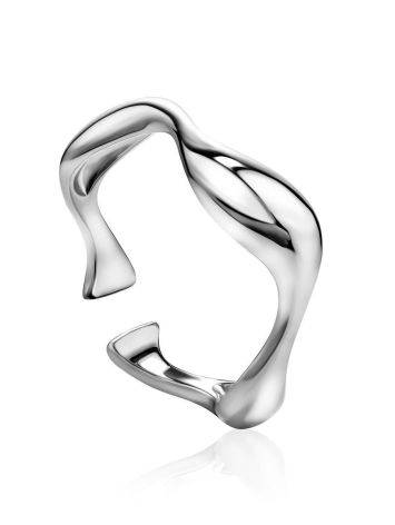 Silver Wave Stacking Ring, image