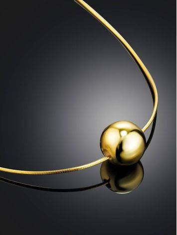 18ct Gold on Sterling Silver Orb Pendant Necklace, image , picture 2