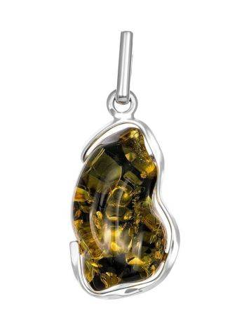 Bold Amber Silver Pendant The Lagoon, image