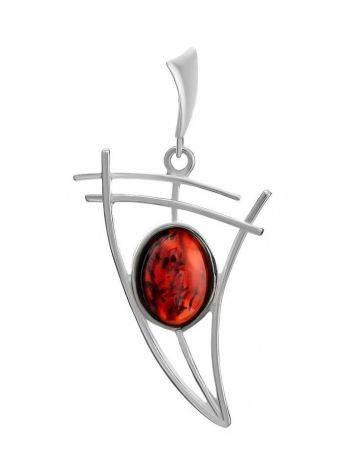 Cherry Amber Silver Pendant The Nautica, image