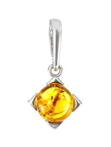Geometric Amber Silver Pendant The Rondo, image