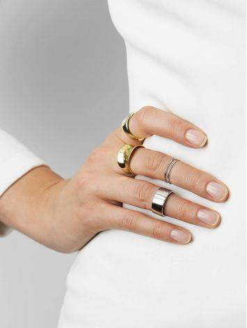 Minimalistic sterling silver unisex ring, image , picture 5