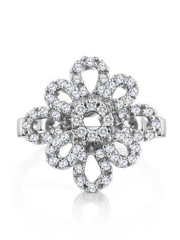 64 Diamonds Gold Floral Ring, Ring Size: 8.5 / 18.5, image , picture 3