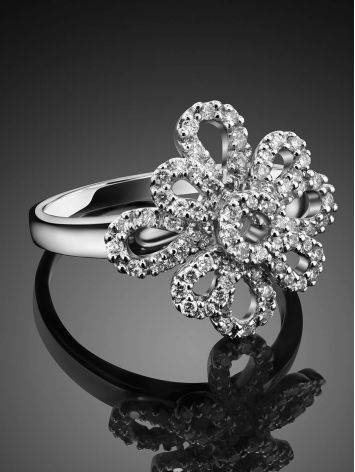 64 Diamonds Gold Floral Ring, Ring Size: 8.5 / 18.5, image , picture 2