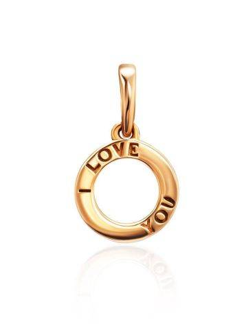 Cute Gold Plated Pendant With Engraving, image