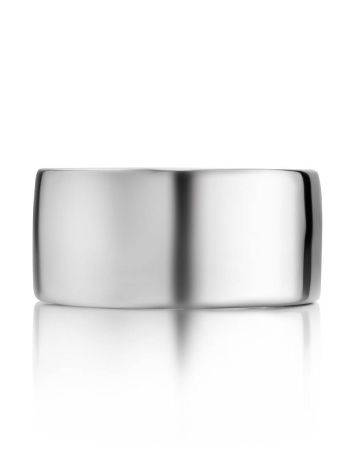 Minimalistic sterling silver unisex ring, image , picture 3