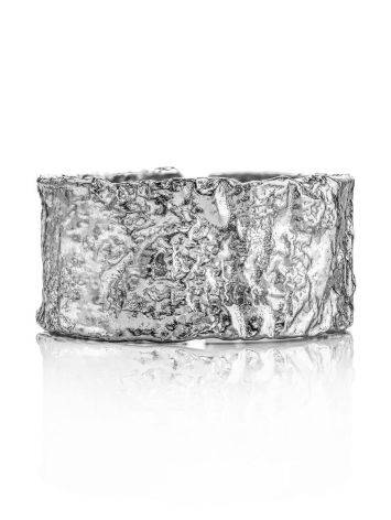 Antiqued finish stylish silver ring, image , picture 3